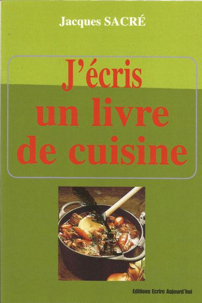 J'écris un livre de cuisine